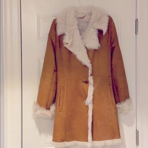 100 % Suede Shearling 3/4 length Coat